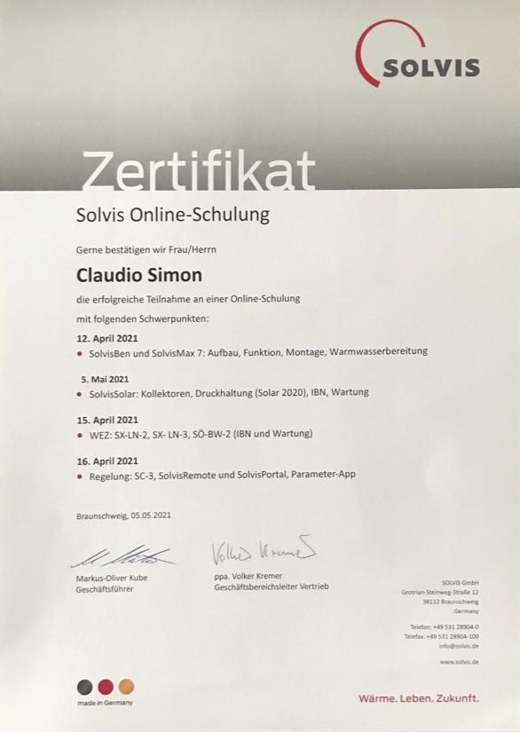 alphatech-Zertifikat_Solvis Online Schulung_April-2021
